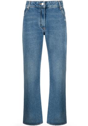 Off-White logo-print flared jeans Farfetch