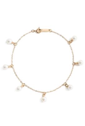 Knotty Imitation Pearl Charm Bracelet Nordstrom