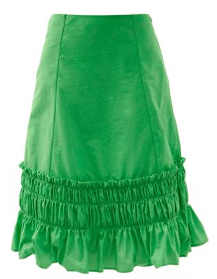 Molly Goddard Fernanda gathered taffeta skirt Matches