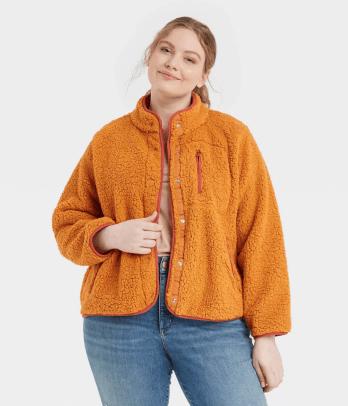 Universal Thread Women's Faux Fur Sherpa Jacket Target