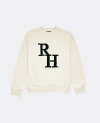 Recreational Habits Cream Varsity Crewneck Pullover