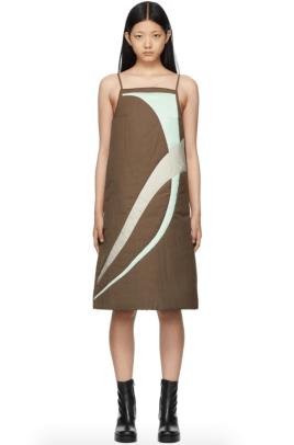 KIJUN Brown Orbit Dress Ssense