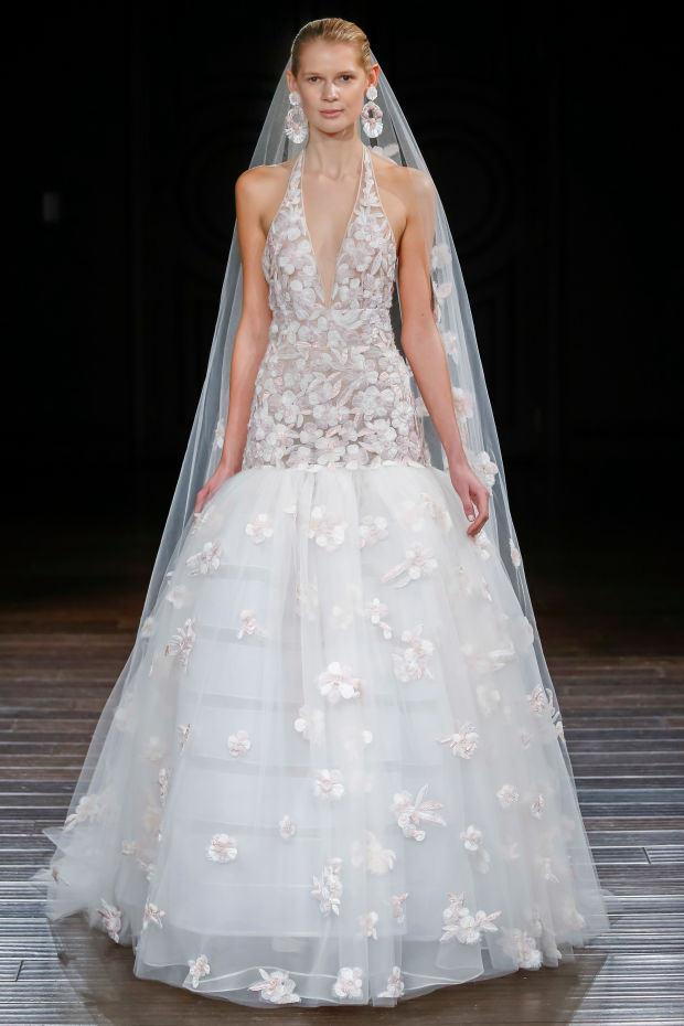 A look from the Naeem Khan bridal spring 2017 collection. Photo: courtesy