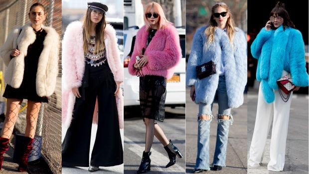Resultado de imagen para colorful faux fur coats fashion week 2017