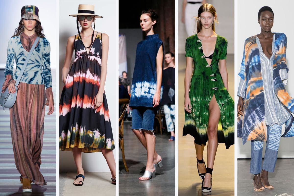 Tie-dye looks, high fashion, color inspiration