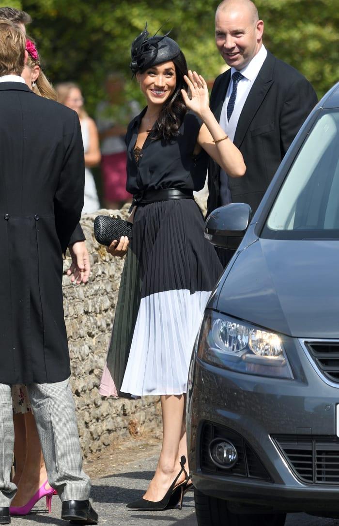 Meghan Markle Wore a Thing: Navy Club Monaco Dress Edition
