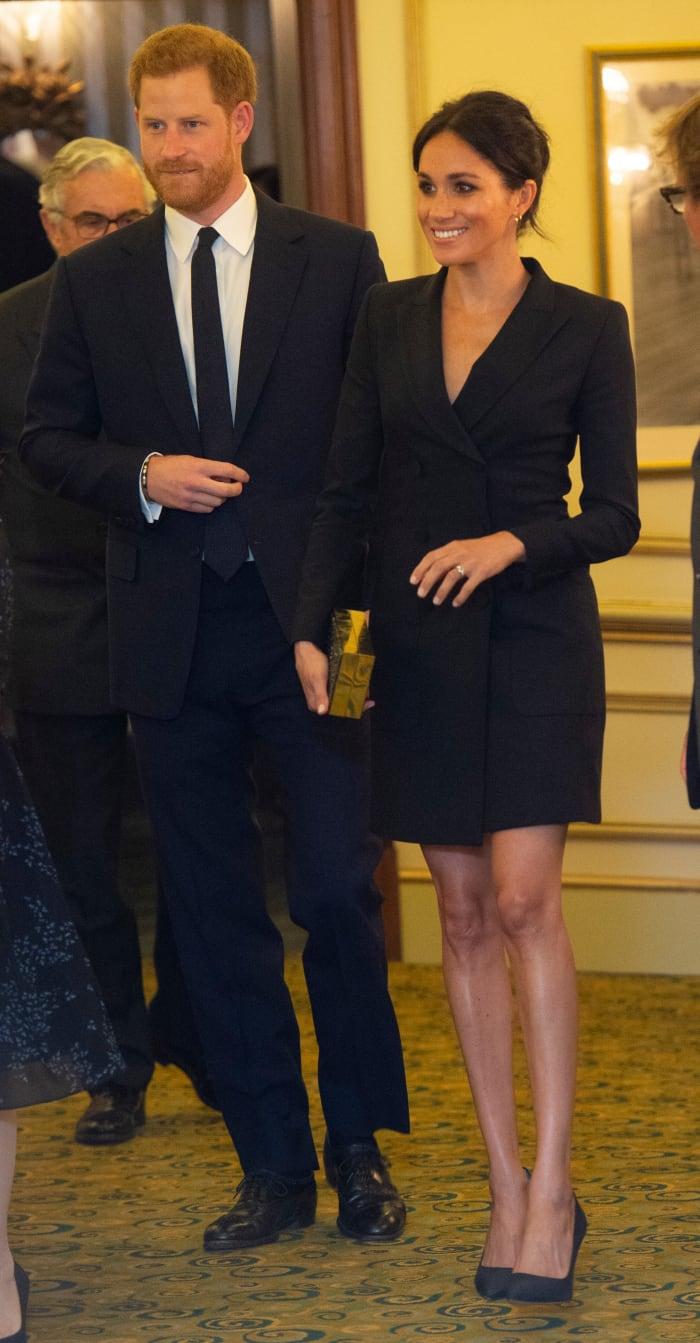 Meghan Markle Wore a Thing: Judith & Charles Tuxedo Mini Dress Edition