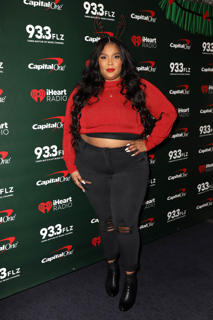 Lizzo at 93.3 FLZ's 2019 Jingle Ball in Tampa, Florida. Photo: John Parra / Getty Images