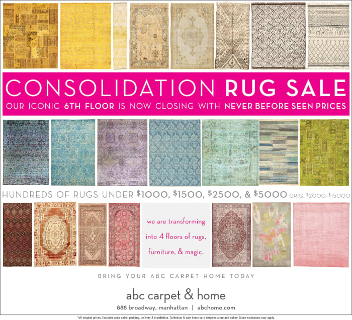 Abc Carpet Consolidation Rug Sale @ 888 Broadway