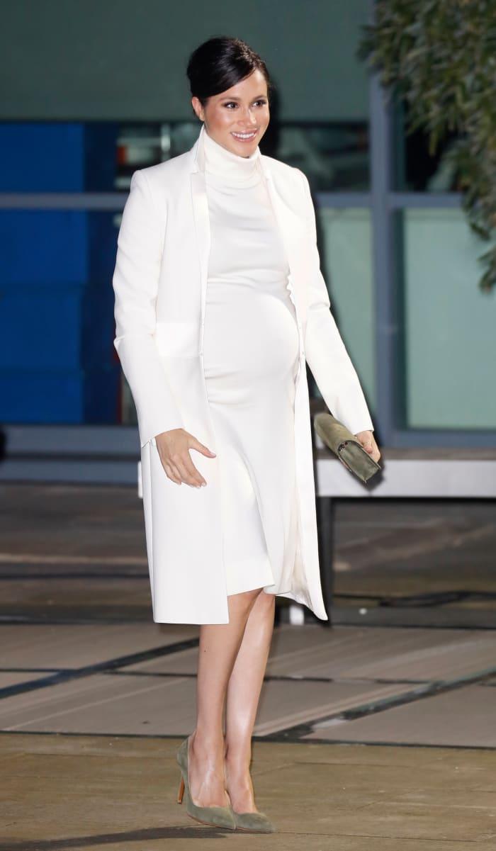 Meghan Markle Wore a Thing: White Calvin Klein Turtleneck Dress Edition
