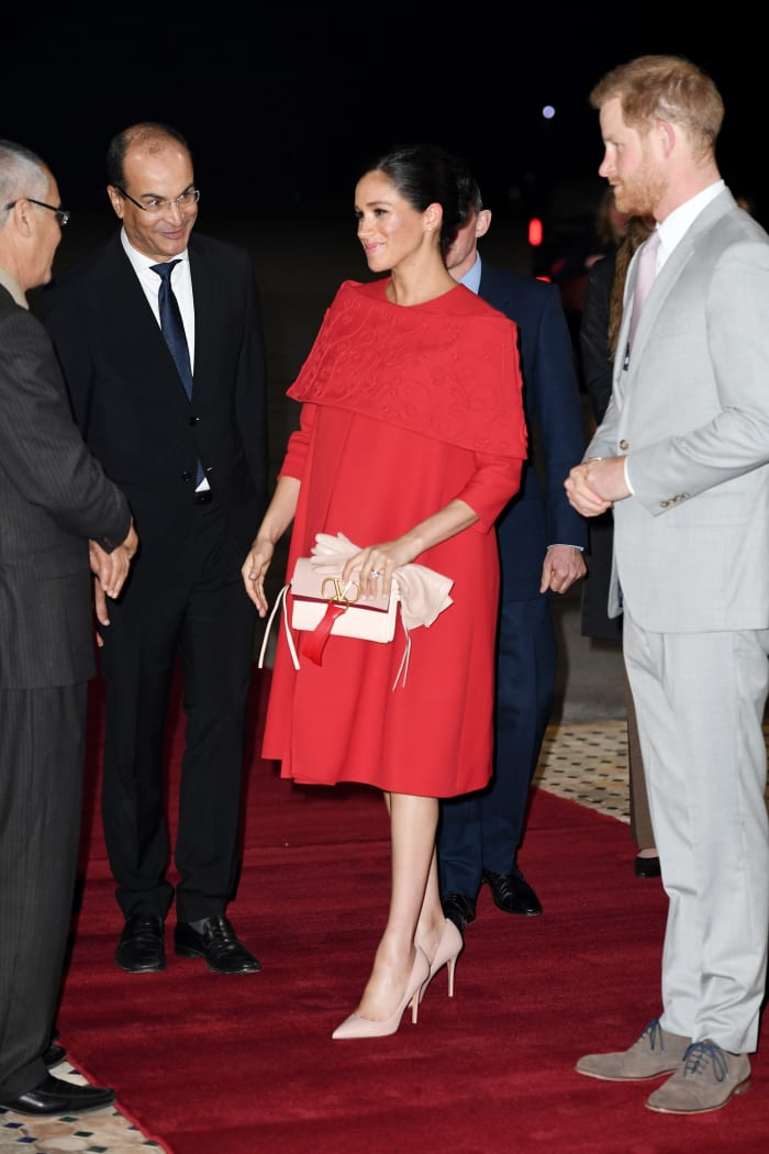 Meghan Markle Wore a Thing: Custom Valentino Red Capelet Dress