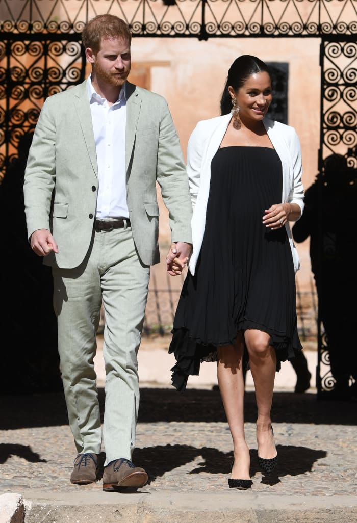 Meghan Markle Wore a Thing: Babaton Blazer and Black Pleated Dress Edition