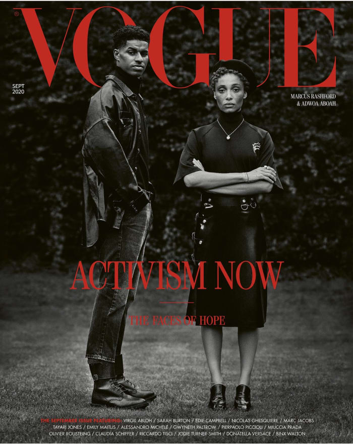 """Activists on the September 2020 issue of """"Vogue"""" U.K."""