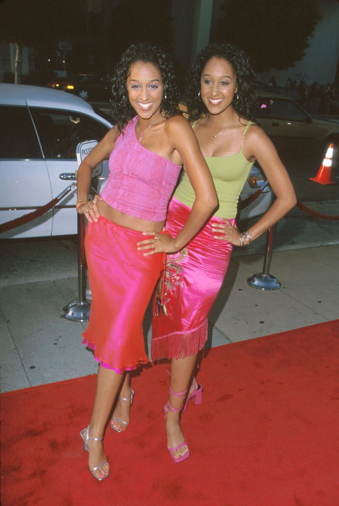 "Tia and Tamera Mowry at a premiere for ""Big Momma's House"" in May 2000."