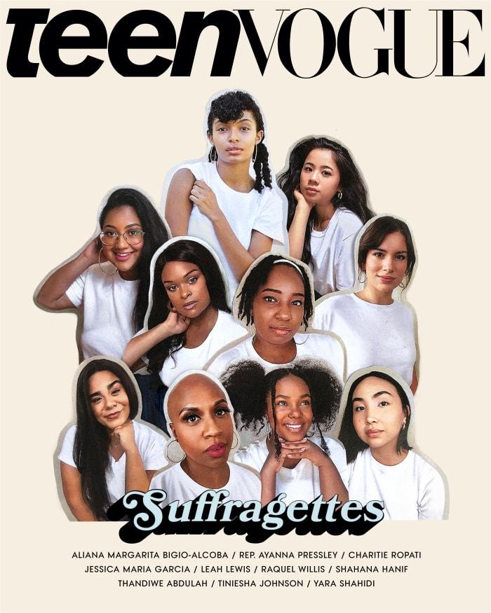 A capa de agosto de 2020 da Teen Vogue.