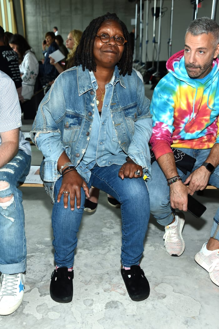 Whoopi Goldberg at the R13 front row during New York Fashion Week on September 8, 2018.