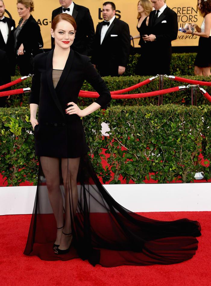 Emma Stone 2015 SAG Awards Dior Haute Couture