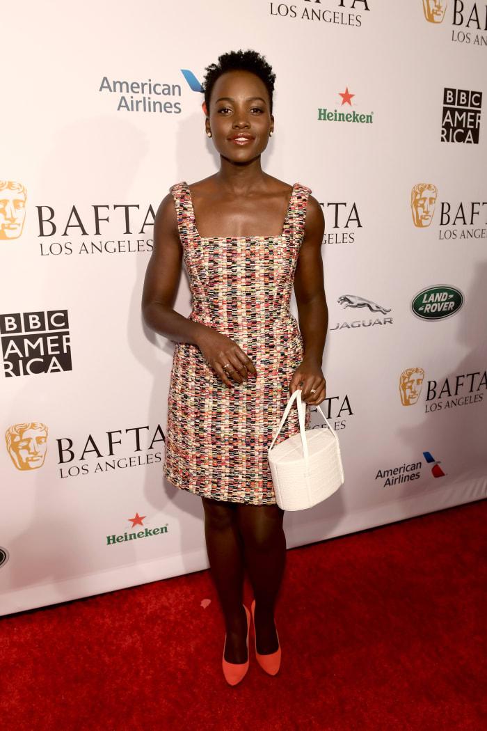Lupita Nyong'o 2019 Bafta Tea Party Jonathan Cohen Dress