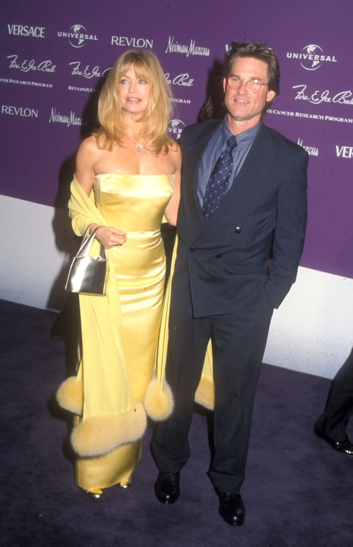 goldie hawn yellow gown fire and ice ball
