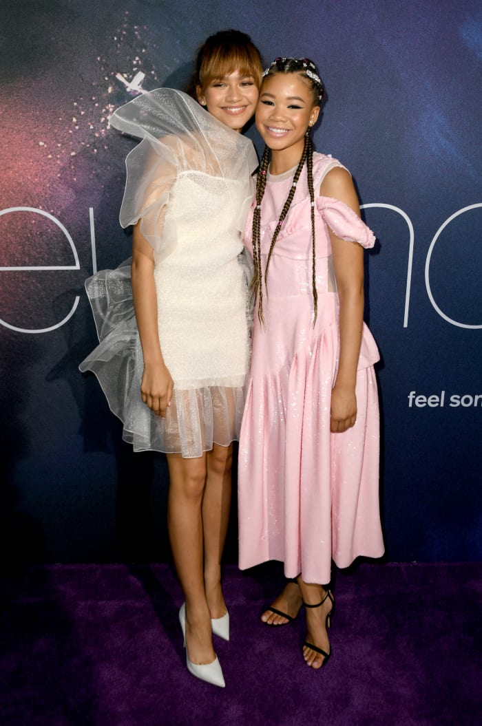 Zendaya and Reid (wearing Simone Rocha) at the L.A. premiere of