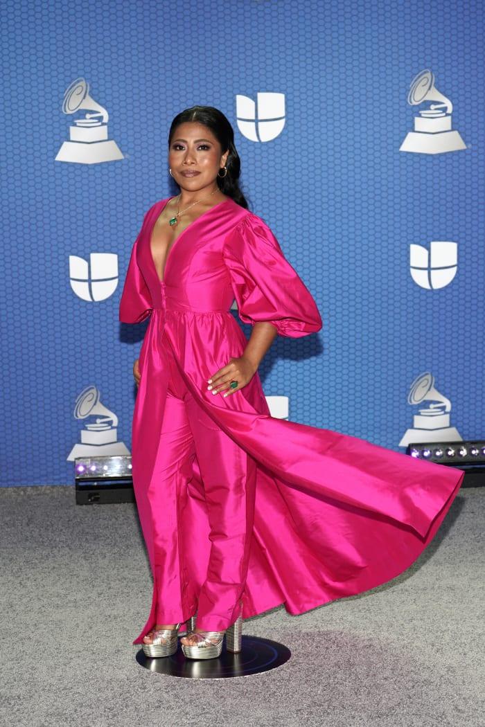 Yalitza Aparicio in Helorocha at the 2020 Latin Grammys in Miami, Florida.