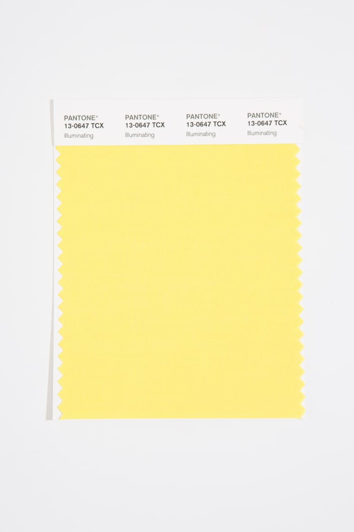 Illuminating, also knows as Pantone 13-0647, one of the company's 2021 Colors of the Year.