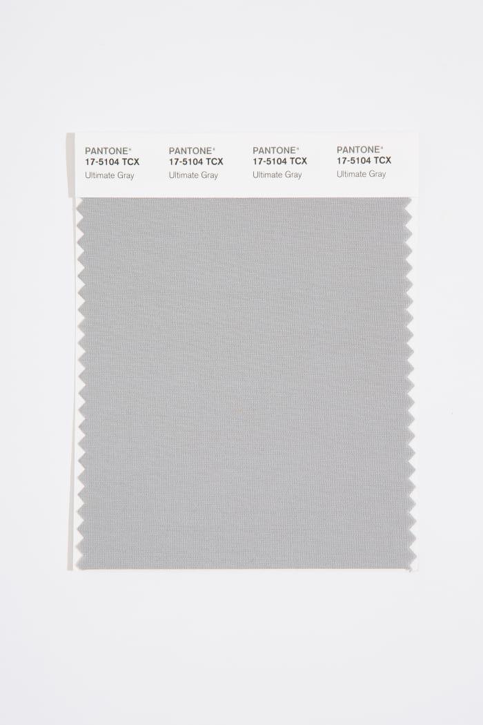 Ultimate Gray, also known as,Pantone 17-5104, the second of the two 2021 Colors of the year.