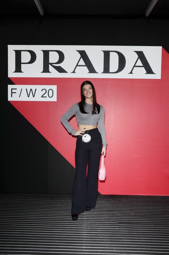 Charli D'Amelio Prada Fall:Winter 2020:2021 Womenswear Fashion Show