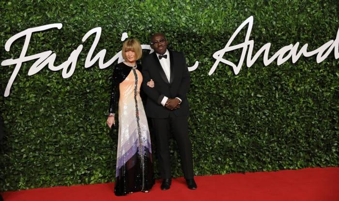 Anna Witnour and Edward Enninful at the 2019 Fashion Awards