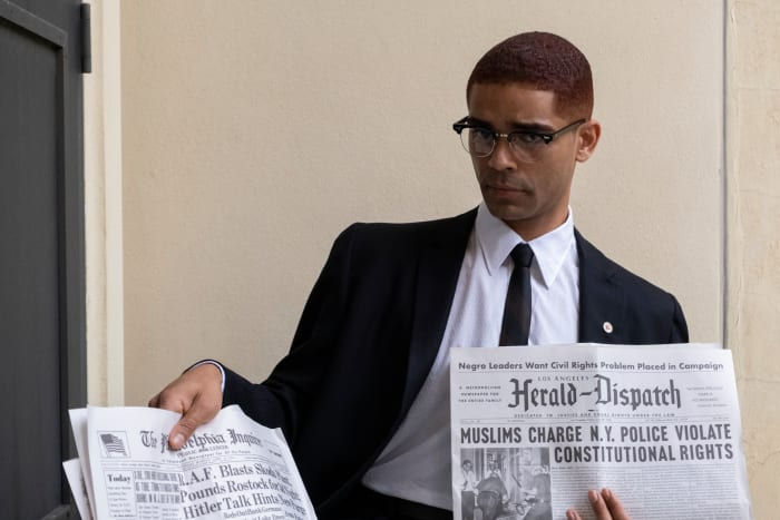 Malcolm X (Kingsley Ben-Adir).