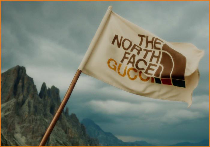 Gucci x North Face Flag Logo