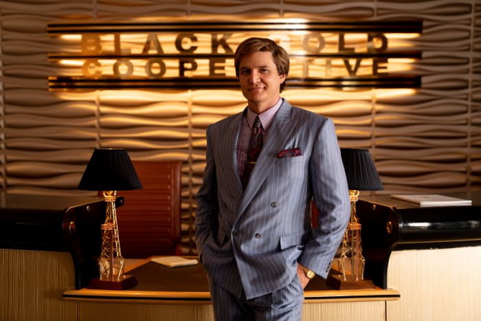 Greed is good, thinks Maxwell Lord (Pedro Pascal).
