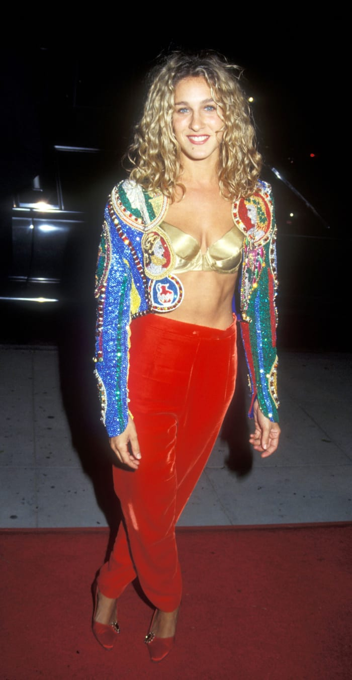 """Sarah Jessica Parker at the """"For the Boys"""" premiere in 1991."""