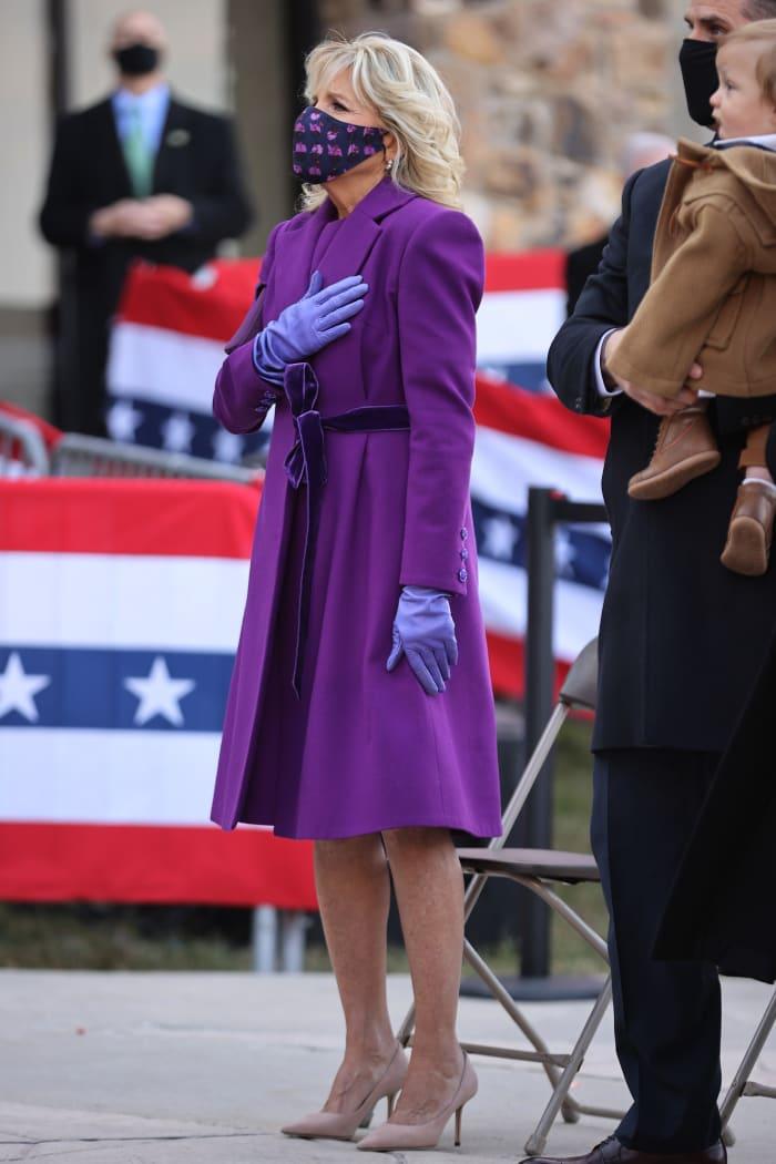 "Dr. Jill Biden President-Elect Joe Biden Speaks At The Major Joseph R. ""Beau"" Biden III National Guard Reserve Center In Wilmington, Delaware"