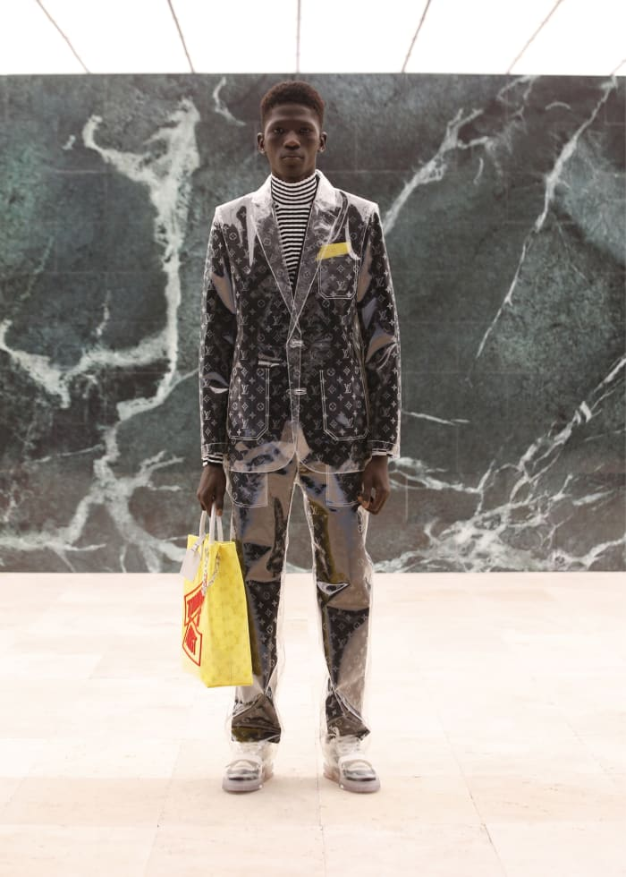 A look from the Louis Vuitton men's Fall 2021 collection.