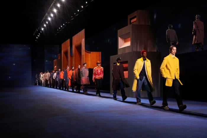 The finale at the Dior men's Fall 2021 collection.