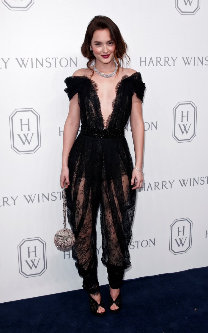leighton-meester-marchesa-black-lace-jumpsuit