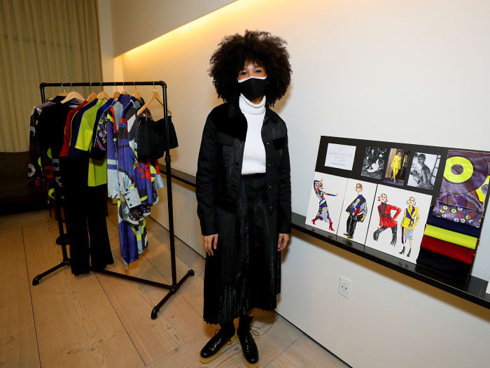Marrisa Wilson at the Black In Fashion Council's Discovery Showroom during New York Fashion Week.