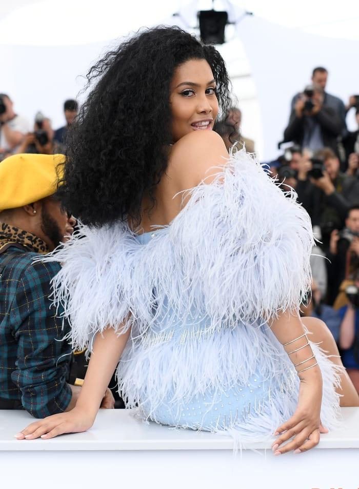 Leyna Bloom wearing Ingie Paris at Cannes.