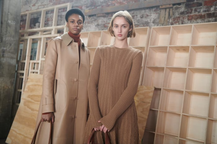 Looks from Gabriela Hearst's Fall 2021 collection.