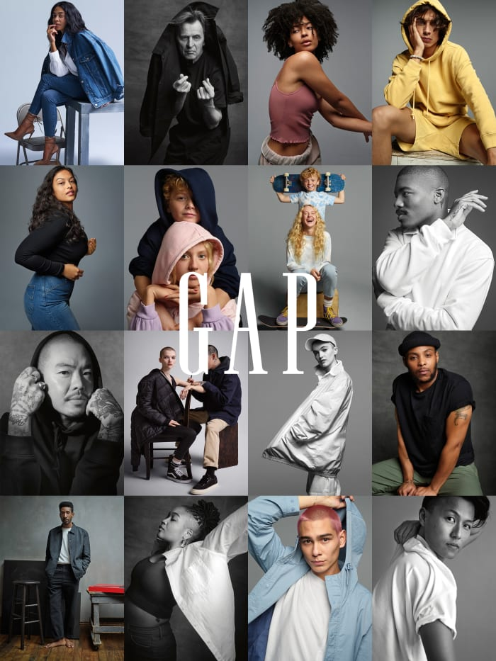 Images from Gap's Generation Good campaign.
