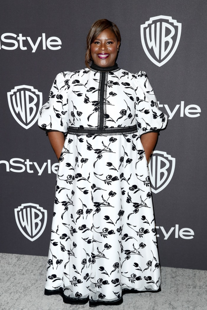 Retta, wearing Jaime Elyse, at the 2019 'InStyle' and Warner Bros. Golden Globes after party in L.A.