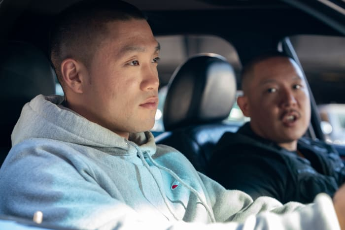 Boogie (Taylor Takahashi) and his uncle (writer-director Eddie Huang).