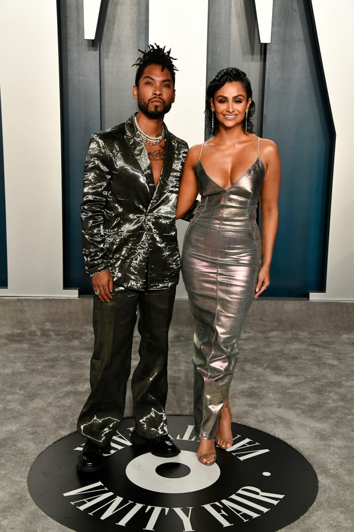 Miguel and Mandi at the 'Vanity Fair' Oscars Party in before-times 2020.