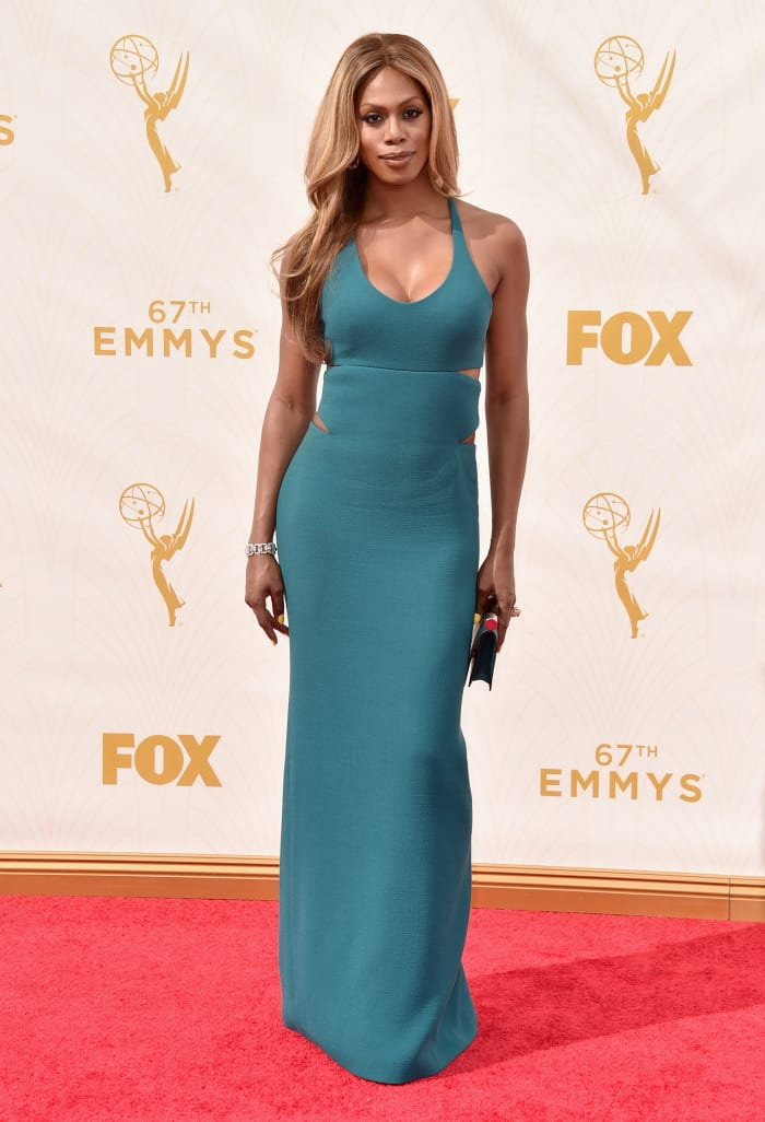 Laverne Cox attends the 67th Emmy Awards