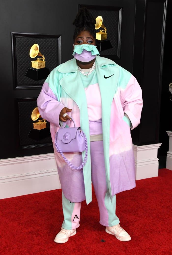 Grammys-2021-Best-Dressed-Chika-Nike-Versace