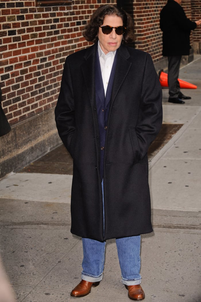 "Lebowitz outside ""The Late Show With David Letterman."""
