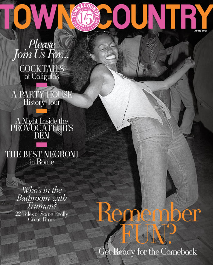 Diana Ross at Studio 54 in 1979 on the April 2021 issue of