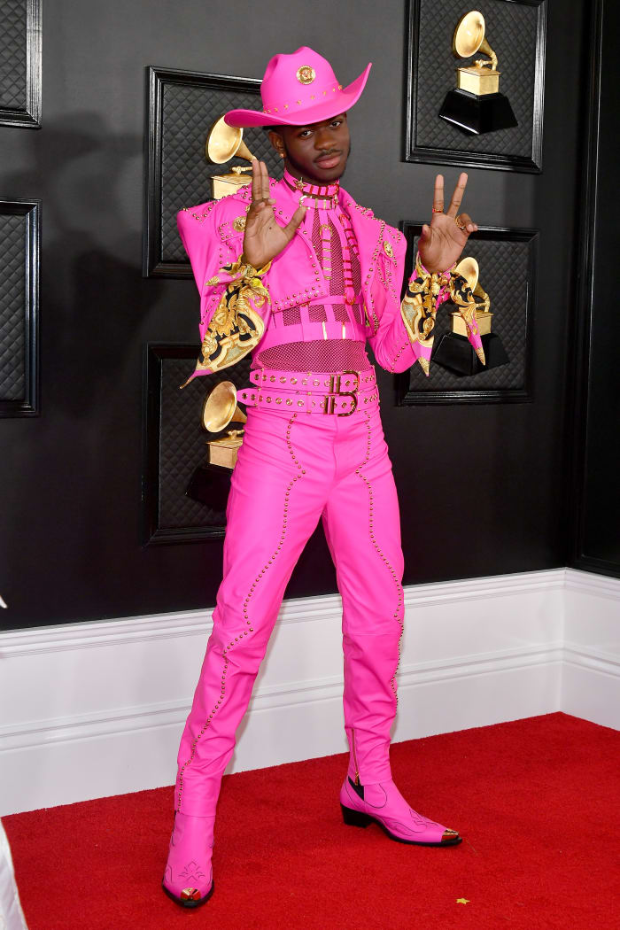 Lil Nas X in Versace at the 62nd Annual Grammy Award