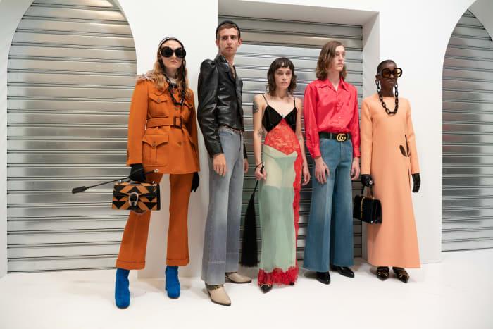 Looks da coleção Gucci Primavera 2020.